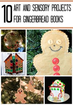 Art and sensory projects for gingerbread stories
