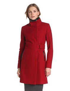 Via Spiga Women's Stand Collar Wool Coat, Red, 12 Via Spiga http://www.amazon.com/dp/B00DFYRWIG/ref=cm_sw_r_pi_dp_7UQiub05AJ4BF