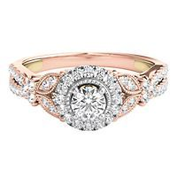 TRULY™ Zac Posen 7/8 ct. tw. Diamond Floral Halo Engagement Ring in 14K Gold