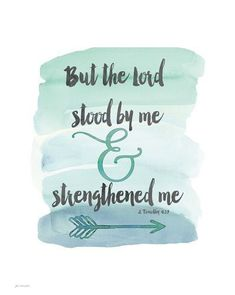 Handlettering against a pale teal watercolor wash. Strengthened Me Wall Art by Jo Moulton from Great BIG Canvas. Bible Verse Painting, Bible Verse Canvas, Painting Quotes, Scripture Art, Bible Scriptures, Painting Art, Paintings, My Canvas, Canvas Wall Art