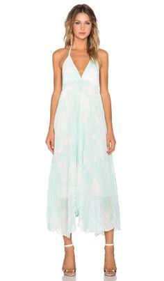 Alice + Olivia Adalyn Keyhole Maxi Dress in Aqua Water   REVOLVE