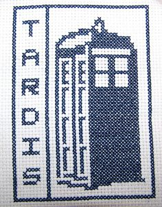 Tardis cross-stitch.