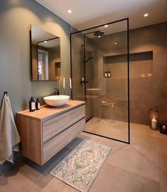 44 magnificient scandinavian bathroom design ideas that looks cool – Bathroom Inspiration Scandinavian Bathroom Design Ideas, Modern Bathroom Design, Bathroom Interior Design, Bath Design, Toilet And Bathroom Design, Brown Bathroom, Modern Toilet Design, Small Bathroom Designs, Industrial Bathroom Design