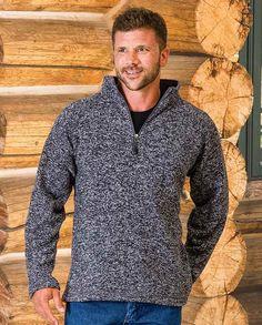 0c47a89fdb5 Men s Heather Grey Knit Pullover -