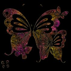 Butterfly Graphics | http://www.commentsyard.com/glittering-butterflies-in-dark-graphic/
