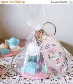 Items similar to Tea And Cake Soap - Alice In Wonderland Bath - Tea Soap - Lemon Soap - Cake Soap - Soap Decor - Soap Gift - Party Favor - Alice Party Favor on Etsy Handmade Shop, Etsy Handmade, Handmade Gifts, Soap Cake, Lemon Soap, Decorative Soaps, Bath Tea, Soap Making, Alice In Wonderland