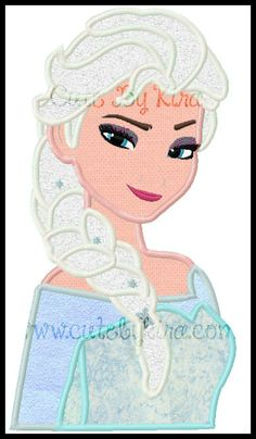 Cold Queen Bust 2 Applique Machine Embroidery Design (DIGITAL ITEM) on Etsy, $5.00
