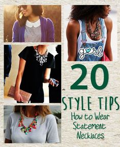 20 Style Tips On How To Wear Statement Necklaces #jewelrytips