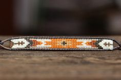 Bead loomed bracelet made with delica seed beads in multiple finishes and colors
