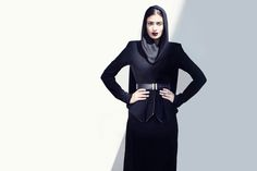 Shop designer clothes, shoes, bags & accessories for Men & Women from all over the world. Hijab Fashionista, Mesh Long Sleeve, All Black Everything, Rock Chic, Edgy Look, Long Sleeve Bodysuit, Everyday Look, Signature Style, Dress Codes