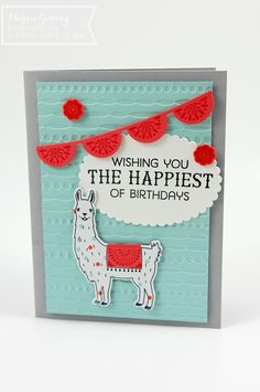 Stampin Up, Birthday Fiesta, Geburtstagskarte