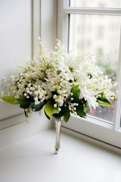 {Gorgeous Nosegay (Tussy Mussy) Showcasing Lily Of The Valley, White Stephanotis + Greenery/Foliage}
