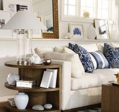 Ralph Lauren Designs   The Ralph Lauren Home Driftwood collection features textured fabrics ...  *Shelf ledge!