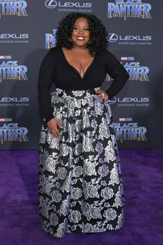 Amber Riley Photos - Actor Amber Riley attends the premiere of Disney and Marvel's 'Black Panther' at Dolby Theatre on January 2018 in Hollywood, California. - Premiere Of Disney And Marvel's 'Black Panther' - Arrivals Amber Riley, Beautiful Black Girl, Looking Gorgeous, Black Panther Movie 2018, Pan Pan, Coloured Girls, Fashion Gallery, Fashion Pics, Street Fashion