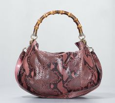 Gucci Pink Ombre Python Bamboo Handle Peggy Hobo Bag Review Buy Now