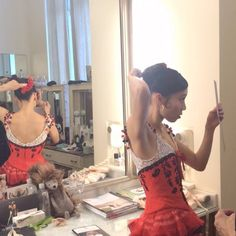 Frances Chung backstage in SF Ballet's Don Quixote.
