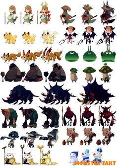 埋め込み画像への固定リンク Game Character Design, Character Concept, Character Art, Concept Art, Game Design, Cute Creatures, Fantasy Creatures, Chibi, Cartoon Monsters