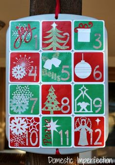 Muffin Tin Advent Calendar and cute story about it. Shapes dhttp://www.http.com//stores. shapes done with silhouette cutter