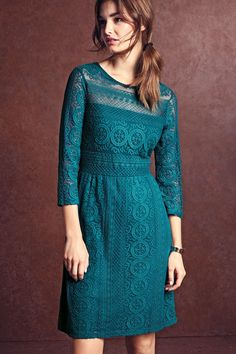 Buy 3/4 Sleeve Lace Dress from the Next UK online shop