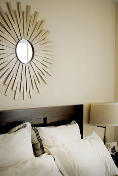 DIY sunburst mirror.