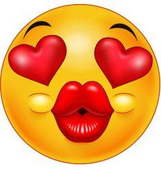Emoticon Kiss Emoji Vector Images (over Smiley Emoji, Funny Emoji Faces, Emoticon Faces, Silly Faces, Animated Emoticons, Funny Emoticons, Smileys, Emoticons Text, Love Smiley