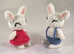 Amigurumi Girl Bunny and Boy Bunny free crochet pattern