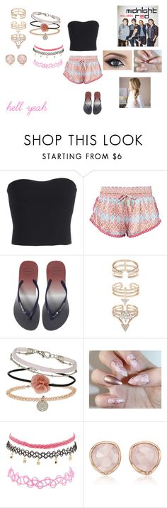 """""""Hell Yeah by Midnight Red"""" by ocean-goddess ❤ liked on Polyvore featuring STELLA McCARTNEY, Paloma Blue, Havaianas, Miss Selfridge, Charlotte Russe and Monica Vinader"""