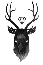 Image result for sketch deer head diamond