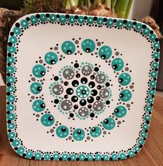 Mandala Painting, Dot Painting, Pottery Painting, Ceramic Painting, Candle Box, Mandala Rocks, Pointillism, Painted Pots, Mandala Design