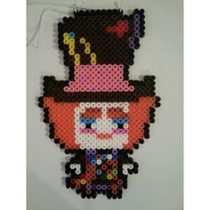 The Hatter From Alice in Wonderland perler beads by pixelorium