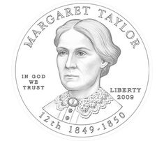 Margaret Taylor, wife of President Zachary Taylor. If I remember correctly, there aren't any portraits of her in existence.
