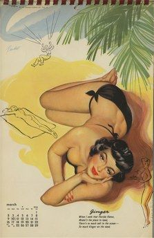 Bill Randall 1952 Calendar March
