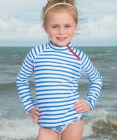 Love this Blue Stripe Rashguard & Bottoms - Girls on #zulily! #zulilyfinds