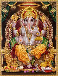 Lord Ganesha offers his blessing (via Etsy: Eas. Lord Ganesha offers his blessing (via Etsy: EasternImage) Shri Ganesh! Lord Ganesha offers his blessing (via Etsy: EasternImage) - Ganesh Lord, Shri Ganesh, Ganesha Art, Lord Krishna, Shiva Parvati Images, Shiva Shakti, Saraswati Devi, Durga Maa, Ganesha Pictures
