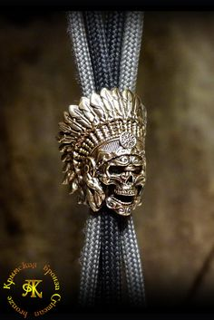 Темлячная бусина , бусина для браслетов из паракорда или кожи , бусина для темляка на нож из бронзы от Крымской бронзы .