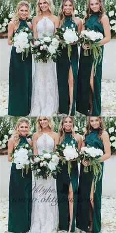 Sheath High Neck Long Cheap Dark Green Bridesmaid Dresses with Split, Sheath High Neck Long Cheap Dark Green Bridesmaid Dresses with Split Bridesmaid Dress, Green Bridesmaid Dress, High Neck Bridesmaid Dress, Bridesmaid Dress Cheap Bridesmaid Dresses 2018 High Neck Bridesmaid Dresses, Designer Bridesmaid Dresses, Emerald Green Bridesmaid Dresses, Forrest Green Bridesmaid Dresses, Green Bridesmaids, Winter Wedding Bridesmaids, Bridesmaid Outfit, Country Wedding Bridesmaid Dresses, High Neck Wedding Dresses