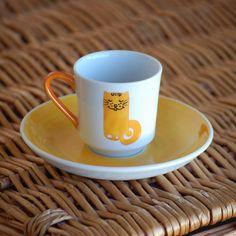 Keyifli ve şık el yapımı fincanlar...  #handmade #puuku #cups #cup #art #love #coffee