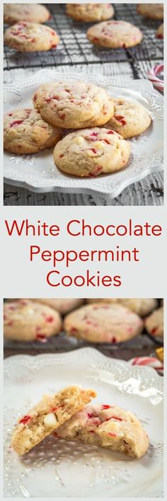 White Chocolate Peppermint cookies are soft, tender and delicious. They are quick and easy to make and perfect for enjoying with a friend over a hot chocolate | HostessAtHeart.com via @HostessAtHeart