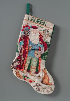Christmas stocking belonging to Lauren Catuzzi Grandcolas, a passenger on Flight knitted by her mother when she was a child / Gift of Jack Grandcolas, husband, in memory of his loving wife & unborn child Flight 93, Loving Wives, Memorial Museum, New York Daily News, Museum Collection, Gifts For Kids, Christmas Stockings, Husband, Seasons