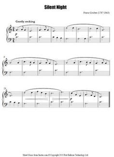 Silent Night (easy) sheet music for Piano