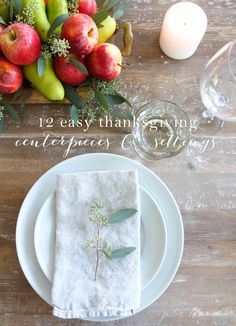 12 easy Thanksgiving centerpiece and table settings that you can create in minutes, complete with step-by-step instructions!
