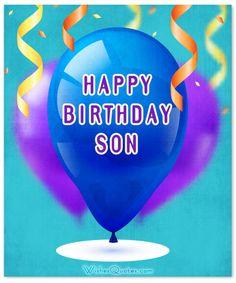 Card Happy Birthday Son
