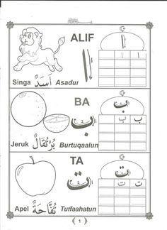 Mewarnai Dan Menulis Huruf Hijaiyah Dan Angka Arab Arabic