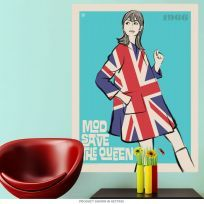 Mod Save The Queen Union Jack Wall Decal