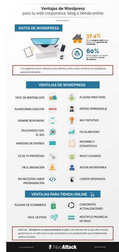 infografía con las razones y ventajas por las que el diseño web en Wordpress es la mejor opción para hacer tu página web o tienda online.