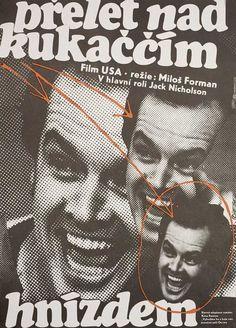 Posteritati: One Flew Over the Cuckoo's Nest 1989 Czech Republic A3 (12x17)