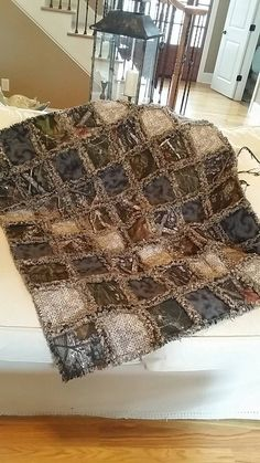 Camo Rag Quilt Throw Choice of Sizes by StacysStudios on Etsy