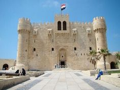 The citadel of Qayetbay in Alexandria, Egypt