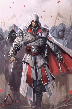 I just started playing Assassin's Creed. Assassins Creed Brotherhood by Leon JO Arte Assassins Creed, Assassins Creed Black Flag, Assassin's Creed Brotherhood, Xbox, Playstation, Assasins Cred, Ezio, Assassin's Creed Wallpaper, Character Art