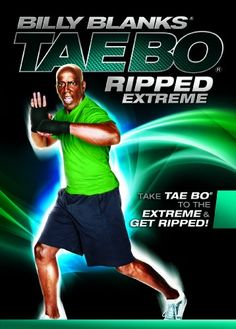 Billy Blanks Tae Bo Ripped Extreme - An exercise routine focused on the ultimate in cardiovascular and strength training. Tae Bo Workout, Workout Dvds, Celebrity Workout, Celebrity Fitness, Kickboxing Workout, Keep Fit, How To Slim Down, Strength Training, Workout Programs
